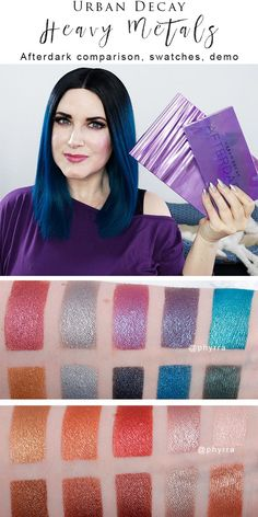 Urban Decay Heavy Metals Palette - I've got my Urban Decay Heavy Metals Palette review, Afterdark comparison, makeup tutorial and video to share with you today! #crueltyfreemakeup #crueltyfreetutorials #crueltyfreemakeup #crueltyfreemakeuptutorials #crueltyfreeblogger