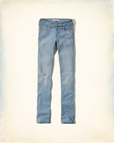 Fading and whiskering through thighs, hand-done destruction, iconic back pocket stitching, Skinny fit, Low rise waist, Destroyed Light Wash, Imported<br><br>99% cotton / 1% spandex<br><br>Inseam (inches):<br>Short:30, Regular: 32, Long: 34