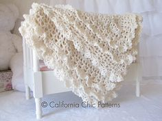 Victorian Crochet Baby Blanket Pattern #89 by Kyoko - California Chic Patterns