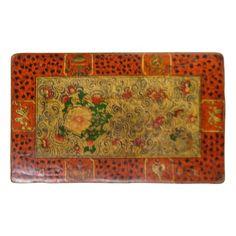 Vintage Tibetan Painted Low Tray Table 26 long| Low Tibetan Tea Table 11 Tall