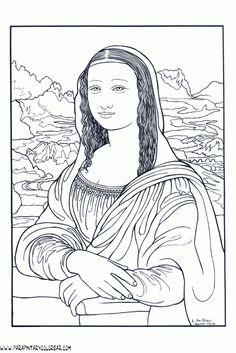 Pintores famosos: Leonardo Da Vinci para niños. Cómo trabajar la Monalisa con los más pequeños.