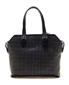 Christian Louboutin Syd Studded Leather Shopper Bag
