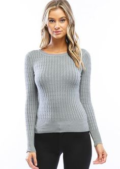 Fall Sweaters, Cable Knit Sweaters, Pullover Sweaters, Sweater Cardigan, Sweaters For Women, Preppy Sweater, Sweater Fashion, Tights, Crew Neck