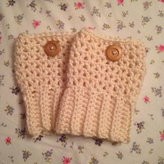 Crochet bootcuffs Hand crocheted bootcuffs with button detail. Color: Off white. Can be made to order in any color. Made with red heart super soft yarn. Please request separate listing to buy! 1/$12 or 2/$20 Homemade Accessories