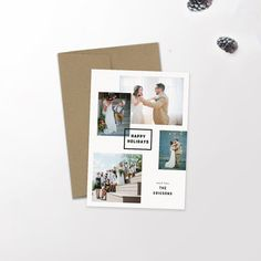 Modern Holiday Card | Newlywed Christmas | Newlyweds | Married | Christmas Card |Typography | Graphic Design | Hipster Holiday | Urban | Christmas