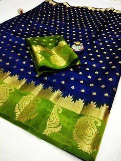 Raw Silk Saree, Tussar Silk Saree, Silk Lehenga, Chiffon Saree, Cotton Saree, Traditional Sarees, Traditional Outfits, Multicoloured Art, Blue Saree