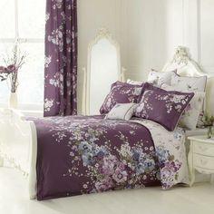 Dorma Purple Florence Collection Duvet Cover | Dunelm