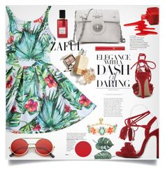 """""""Zaful 57"""" by lillili25 ❤ liked on Polyvore featuring ZeroUV, Armani Beauty, Diana Vreeland Parfums and Kate Spade"""