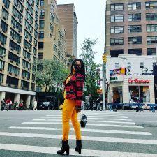 #fashion #newyork #beautiful #marigold #plaid