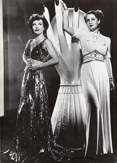 """Good versus bad....Shearer vs Crawford in """"The Women"""" 1939  - a must see movie for Art Deco lovers.  This movie is glam...glam..glam"""