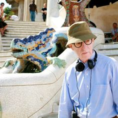 Woody Allen behind the scenes of Vicky Cristina Barcelona (2008)