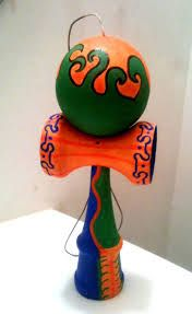 Image result for cool painted kendamas Christmas Wishes, Christmas Ornaments, Wonderland, Projects To Try, Artsy, Hand Painted, Activities, Easter Ideas, Cool Stuff