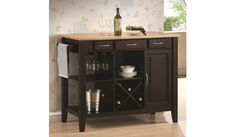 Coaster Home Furnishings Casual Kitchen Cart, Cappuccino For Sale Kitchen Island With Butcher Block Top, Portable Kitchen Island, Home Kitchens, Portable Kitchen, Coaster Furniture, Coaster Fine Furniture, Kitchen Island Cart, White Kitchen Island, Home Furnishings