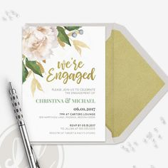 Engagement Party Invitation Instant Download Editable PDF