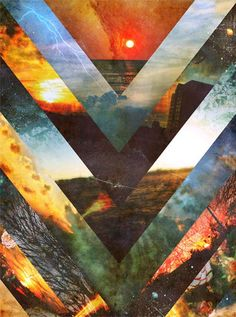 hipster, Collage and geometric image on We Heart It Art And Illustration, Triangles, Design Art, Graphic Design, By Any Means Necessary, Collage Art, Nature Collage, Soul Collage, Collage Photo
