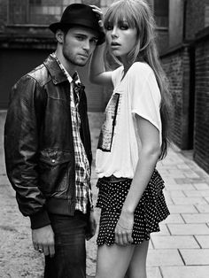 A mix of basic styles and London streetwear for a retro Pepe Jeans London SS 2012 campaign. Love the hat <3