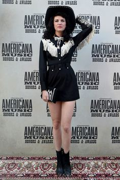Nikki Lane Photos - Nikki Lane attends the annual Americana Music Association Honors and Awards Show at the Ryman Auditorium on September 2015 in Nashville, Tennessee. - Americana Music Festival & Conference Award Show - Red Carpet Style Cowgirl, Cowgirl Outfits, Western Outfits, Costumes Western, Cowgirl Costume, Deer Costume, Hippie Costume, Vintage Western Wear, Vintage Cowgirl