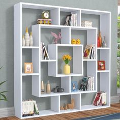 This standard is a creative bookcase which is ideal for the sitting room and the office. Cube Bookcase, Modern Bookcase, Bookcases, Wall Shelves Design, Bookshelf Design, Corner Shelves, Bookshelf Ideas, Home Decor Furniture, Furniture Design