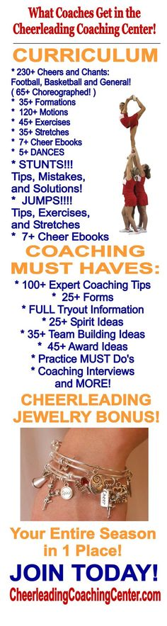 Would you love some help to become a Great Cheerleading Coach?!  Let our 26 years of experience and Expert Coaches help you make your season FUN and EASY!  Join us TODAY at CheerleadingCoachingCenter.com  #Cheerleading #CheerleadingCoach #CheerAtHome #CheerleadingStunts #CheerCoach #CheerleadingBows #CheerleadingChants #CheerMom #CheerleadingCheers #HowToCheer #CheerleadingStunt #CheerleadingJump #CheerleadingJewelry #CheerleaderGift #HowtoCoachCheerleading #LearntoCheer #HowtoCheer