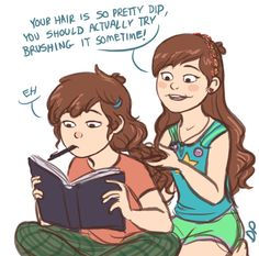 Pretty Hair | If the Pine Twins were both girls