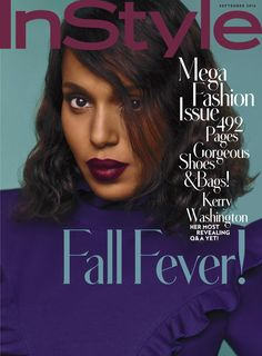 On newsstands now! The glorious Kerry Washington stars on the cover of InStyle in Fendi Fall/Winter 2016-17.