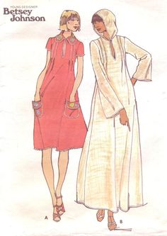 1970s Betsey Johnson Butterick Sewing Pattern 4679