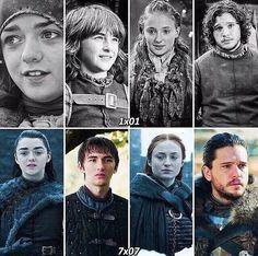 Starks season 1 | season 7 parallel #GameofThrones