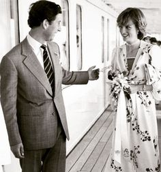Charles (Prince of Wales) & Diana (Princess of Wales), a signed black and white photograph of the Royal couple mid co. on Nov 2013 Prince And Princess, Princess Sofia, Prince Charles And Diana, William Kate, Princess Diana Fashion, Isabel Ii, Before Wedding, Lady Diana Spencer, Royal Weddings