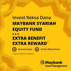 Maybank Asset Management - Invest Reksa Dana Syariah Extra  Syarat & ketentuan : cek https://www.facebook.com/IndoPremierOnlineTechnology/photos/a.10154827775485196.1073742228.149173600195/10154907023900196/?type=3&theater