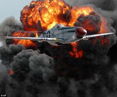 """P51 Mustang. June 9, 1943: The famed """"Tuskegee Airmen"""" are involved in their first air battle with German fighter planes in the skies over North Africa. These flyers from the 99th Fighter Squadron were among those trained at Tuskegee Army Air Field, the center for pilot training of African Americans during World War II."""