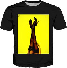 - World's Largest All-Over-Print Online Store! Sexy Legs, Fashion Makeover, Ios, Mens Tops, T Shirt, Clothes, Heels, Products, Supreme T Shirt