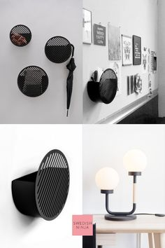 These small and decorative storage baskets are suitable for entrance halls, bathrooms or bedrooms or where ever such storage is needed. Looks equally brilliant empty or filled-up. Large Baskets, Baskets On Wall, Storage Baskets, Storage Spaces, Entrance Halls, Geometric Form, Decorative Storage, Black White Pink, Myrtle
