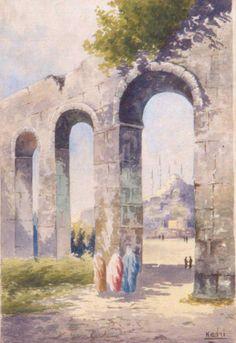 Kadri Aytolon Şehzadebaşı Istanbul, Paris, Painting, Montmartre Paris, Painting Art, Paris France, Paintings, Painted Canvas, Drawings