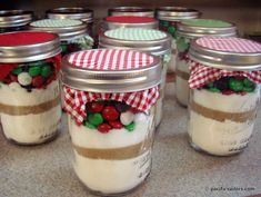 Chocolate chip cookies in pint mason jar