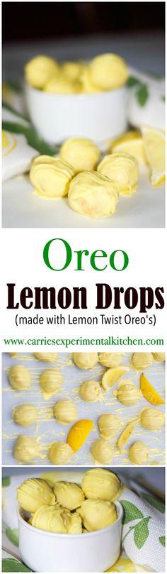 Oreo Lemon Drops are a delicious lemony dessert using Lemon Twist Oreo's, fat…