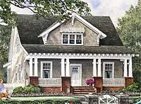 Architectural Designs House Plan 32608WP has approximately 2,000 square feet of living and is ideal for a narrow lot.