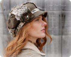 Space boho - Green Trunk Designs: when the head - too boho! Fall Fashion Trends, Boho Fashion, Fashion Hats, Fall Trends, Boho Hat, Shabby Look, Boho Green, Stylish Hats, Church Hats