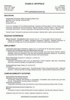Sample Resume For College Student - http://www.jobresume.website ...