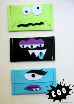 DIY boogie tissue holder. What a good idea! and it is the simplest tutorial ever! Great halloween crafts!