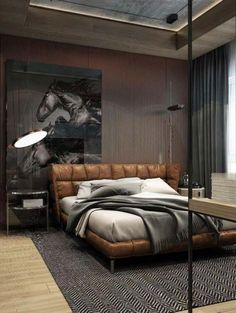 Themsfly Cool Masculine Bedroom for Mens Ideas