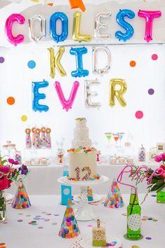 Confetti + Polka Dot Madness themed birthday party via Kara's Party Ideas