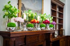 The Boardroom - lovely flowers on the mantle piece