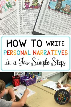 Looking for a way to teach your students how to write a personal narrative?  In just a few simple steps your students can be transformed into amazing authors.  Check this out and see what a game changer it was for me!