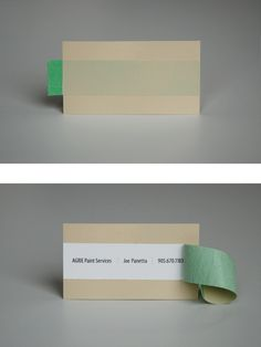 painters business card. I know this is super random but I think it's so clever!