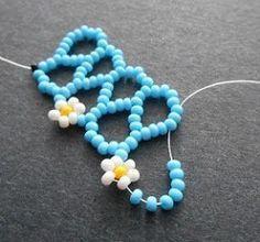 Beading Tutorial: Daisy Chevron Chain ~ Seed Bead Tutorials