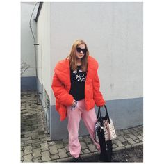 #streetstyle #winter #pufferjacket #red #moschino #pinko
