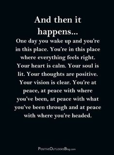 Now Quotes, Great Quotes, Words Quotes, Quotes To Live By, Super Quotes, Fact Quotes, Quotes About Peace, One Day Quotes, Peace Of Mind Quotes