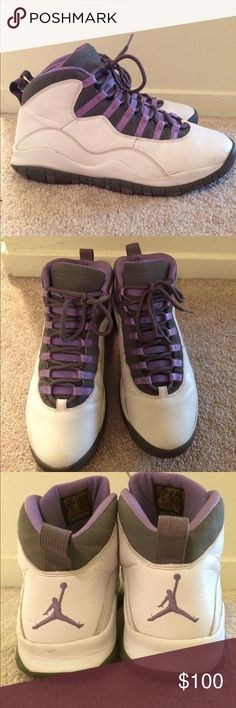 Womens Jordan Retro 10's violet purple Womens Jordan Retro 10's violet purple size 12 Jordan Shoes Athletic Shoes