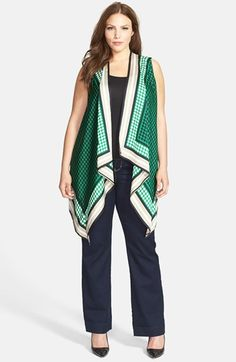 I absolutely LOVE this MICHAEL Michael Kors Flyaway Vest (Plus Size) available at #Nordstrom #Vests #Well-RoundedFashion