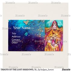 TAROTS OF THE LOST SHADOWS / STRENGHT / FORTITUDE BUSINESS CARD  #strenght #fortitude #lion #leo #tarot #tarots #astrology #astrologist #psychicreader #cartomante #psychics  #animals #cats #power #woman #fineart #business #businesscards